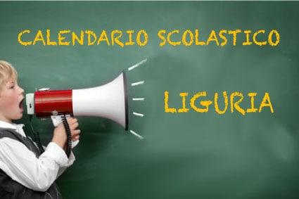 Calendario scolastico Liguria