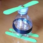 Un elicottero da una bottiglia