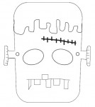 Maschera da Frankestein da stampare e coloarre