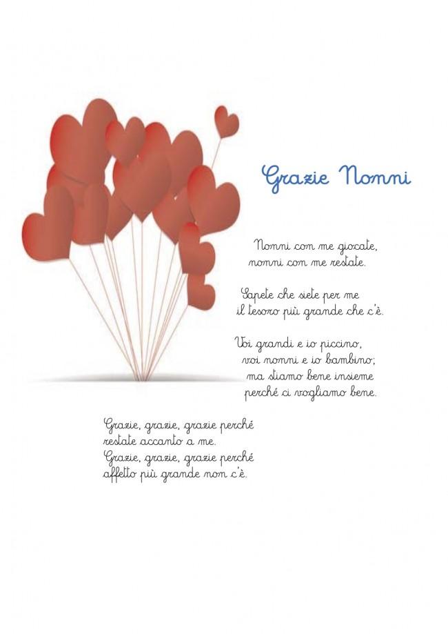 Super Poesia per i nonni : grazie nonni UP96