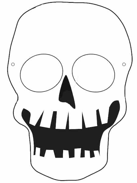 Maschera da teschio da stampare