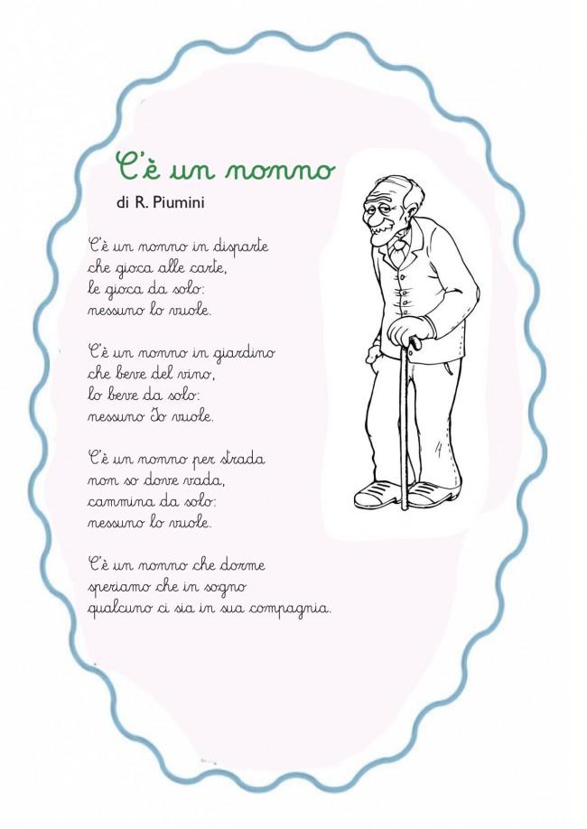 Famoso Poesie Sui Nonni Scuola Primaria IZ07 » Regardsdefemmes MN04