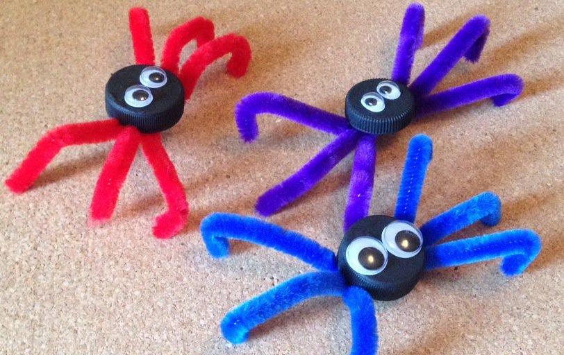 Ragno per Halloween riciclo creativo