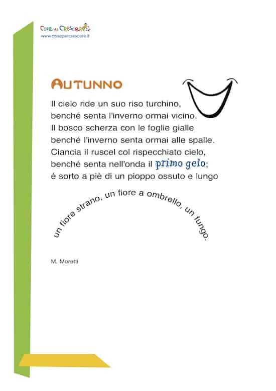 Poesia per bambini sull'autunno