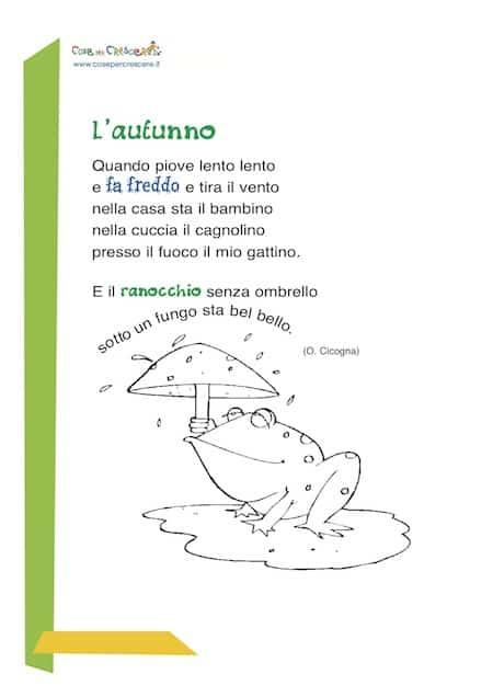 poesia sull'autunno per bambini
