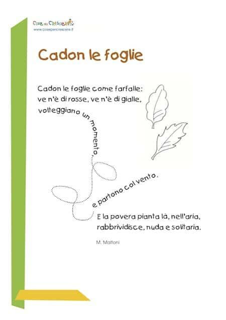 poesia sull'autunno: cadon le foglie