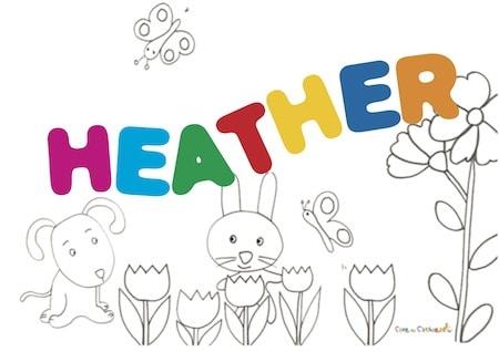 Heather significato del nome e onomastico