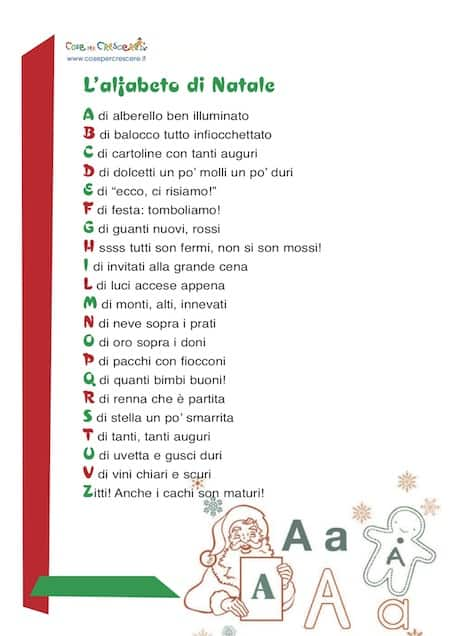Poesie In Inglese Per Bambini Di Natale.L Alfabeto Di Natale Cose Per Crescere