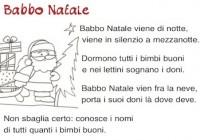Babbo Natale Questanno Verra Filastrocca.Poesie Per Natale Per Bambini Poesie Di Natale Scuola Primaria E