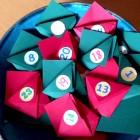 Calendario di Natale origami