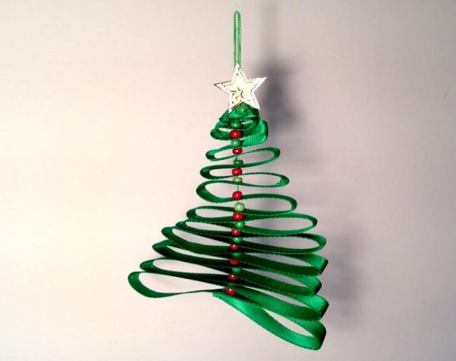 Albero di Natale con nastro - addobbo di Natale