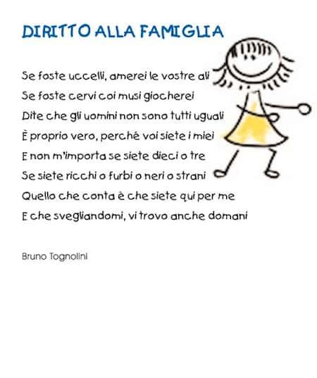 Célèbre Poesia diritto alla famiglia - diritti dei bambini VK92