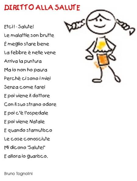 Célèbre Poesia sul diritto alla salute - Diritti dei bambini VK92