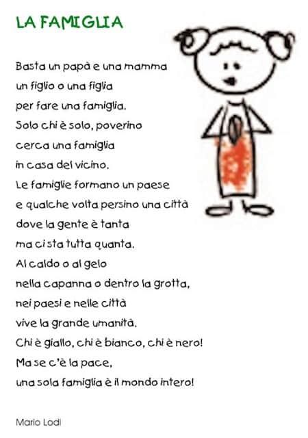 Célèbre Poesia diritti dei bambini - poesia sulla famiglia RJ91