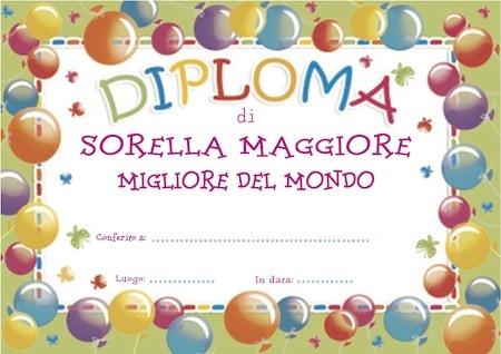 Diploma di sorella maggiore