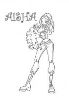 Aisha da colorare
