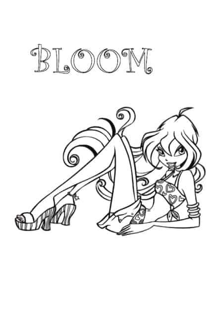 Bloom da colorare