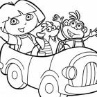 Dora e i suo amici da colorare