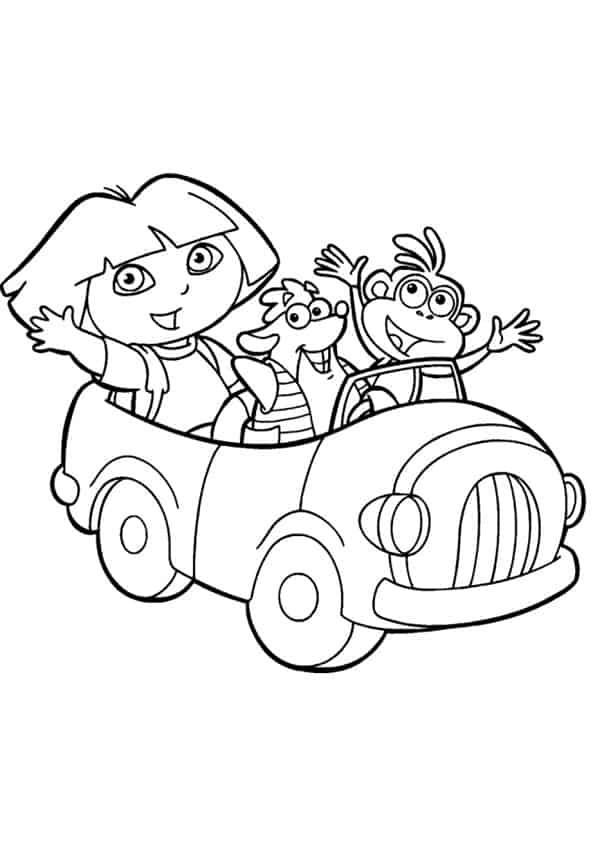 Dora-esploratrice-macchina
