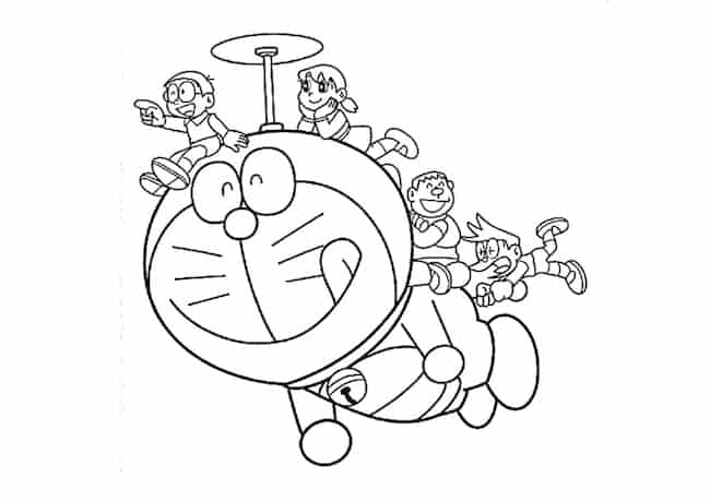 Doraemon e amici in volo cose per crescere for Disegni da colorare doraemon