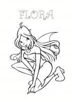 Disegno Di Flora Winx Club Da Stampare E Colorare Gratis