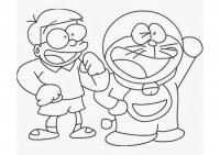 Doraemon e Nobita da colorare