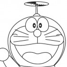 Doraemon che vola da colorare