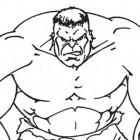Hulk arrabbiato da colorare