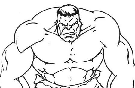 Hulk Arrabbiato Da Colorare Cose Per Crescere