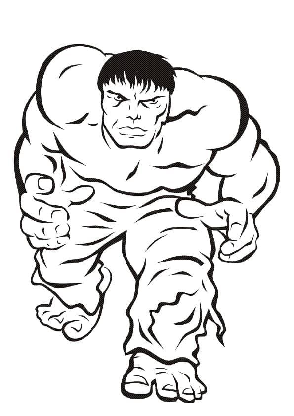 Hulk da colorare