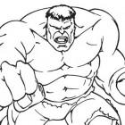 Hulk che combatte da colorare