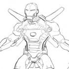 Iron Man con armatura da colorare