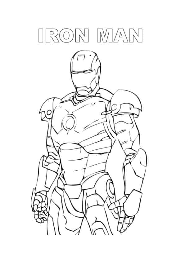 Iron man da colorare for Spiderman disegno per bambini