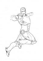Iron Man da colorare