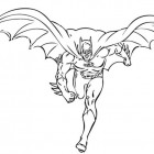 Batman che corre da colorare