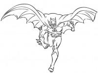 Batman da colorare