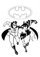 Batman e Robin da colorare