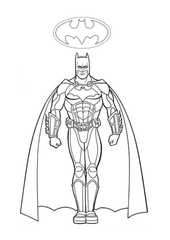 Batman disegno da colorare