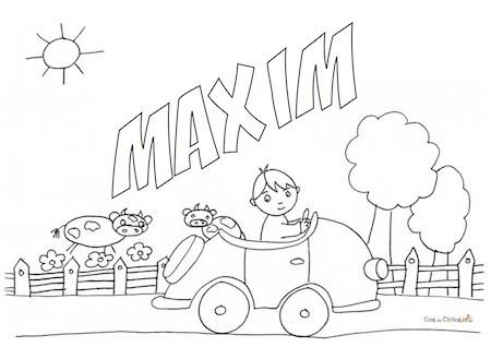 Nome Maxim da colorare