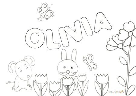 Olivia nome da colorare