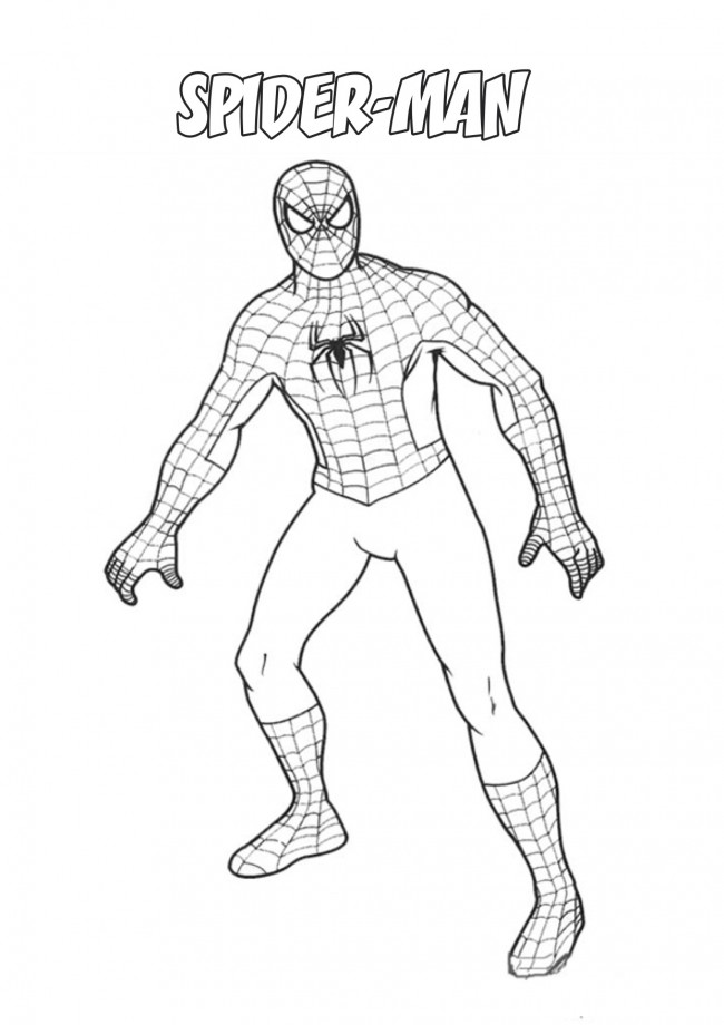 Spiderman da colorare e stampare portalebambini for Disegni da colorare di spiderman