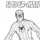 Spiderman in piedi da colorare