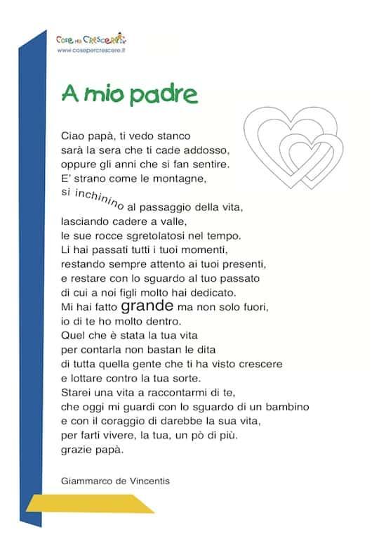 A mio padre - poesia festa del papà