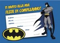 Invito compleanno batman