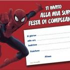 Invito al compleanno di Spiderman