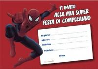 Biglietto invito compleanno Spiderman