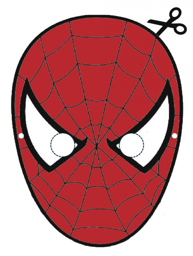 Maschera di spiderman cose per crescere for Maschere da colorare spiderman