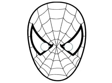 Maschera Di Spiderman Da Colorare Cose Per Crescere