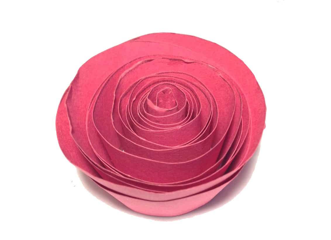 Rosa di carta - lavoretto per bambini