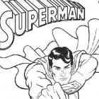 Superman che vola da colorare